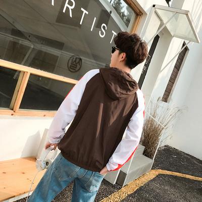 2017 mùa xuân và mùa hè mới Slim Hàn Quốc áo khoác những người yêu thích trùm đầu mỏng áo gió màu quần áo chống nắng áo khoác nam giới và phụ nữ Áo gió