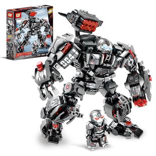 樂高漫威積木超級戰爭機器兒童男孩益智玩具