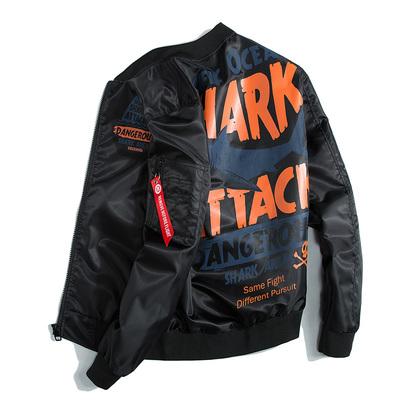 In áo khoác nam áo khoác xu hướng Hàn Quốc phiên bản của áo khoác thí điểm đường phố hip-hop gió giản dị thẳng mùa xuân đồng phục bóng chày Áo khoác