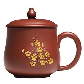 宜兴纯全手工办公紫砂茶杯