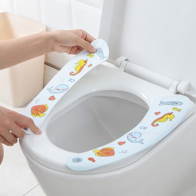 马桶垫可水洗卡通马桶坐便垫保暖加厚马桶坐垫(3对装)