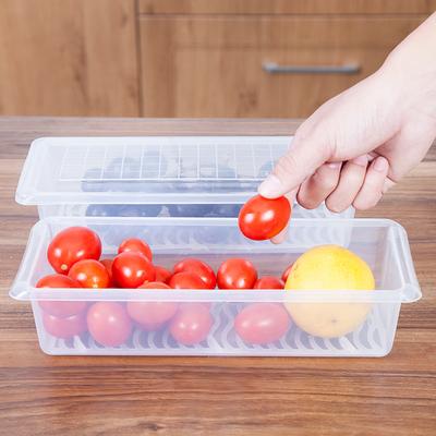 百屋保鲜盒透明盒子长方形密封盒冰箱食品收纳冷冻储物盒带盖大号