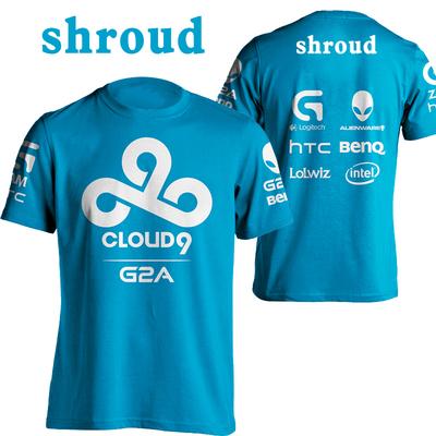 C9 Cloud9 đội ngũ dịch vụ chính thức League Of Legends e-đội thể thao cotton ngắn tay tấm vải liệm Jedi T-Shirt nam áo tommy Áo phông ngắn