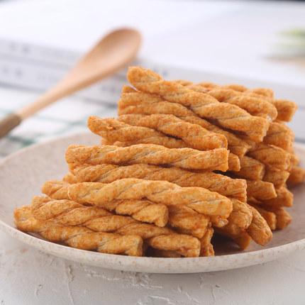 小狗熊手工小麻花280g*2袋襄阳特产海苔香辣味休闲网红小吃零食