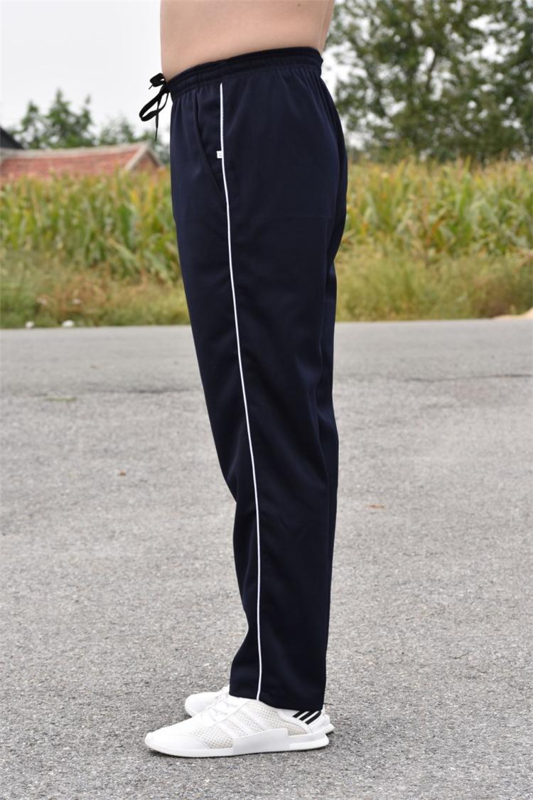 Mùa xuân và mùa hè sinh viên đồng phục quần màu xanh và trắng nam giới và phụ nữ quần thể thao trường tiểu học junior high school đồng phục quần tùy chỉnh