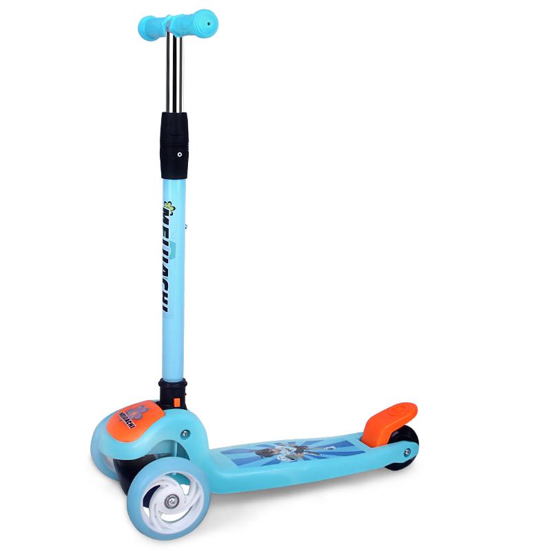 可折叠三轮溜溜车滑滑车闪光轮滑板车 券后32元包邮