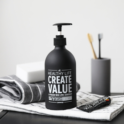 原创北欧乳液瓶化妆品分装瓶洗发水瓶洗手液瓶沐浴露按压玻璃