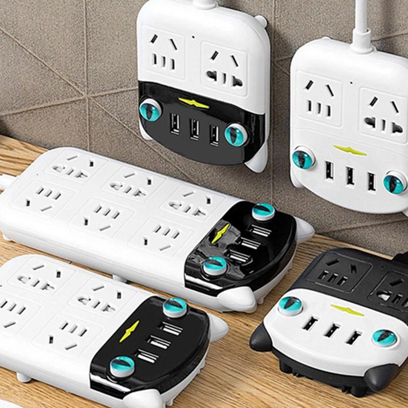 排插带usb插座多功能插电板家用智能插座
