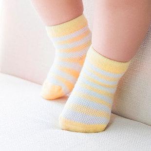 春夏婴儿袜子网眼全棉薄袜宝宝袜