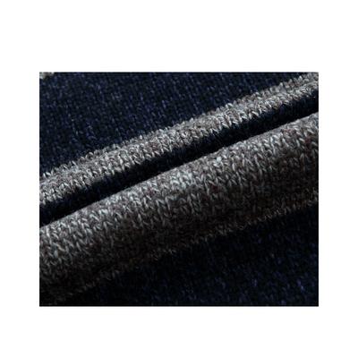 Phá vỡ mã giải phóng mặt bằng áo len nam cao cổ áo len nam áo khoác cardigan lỏng sọc mùa thu và mùa đông ZHAN DI JI PU