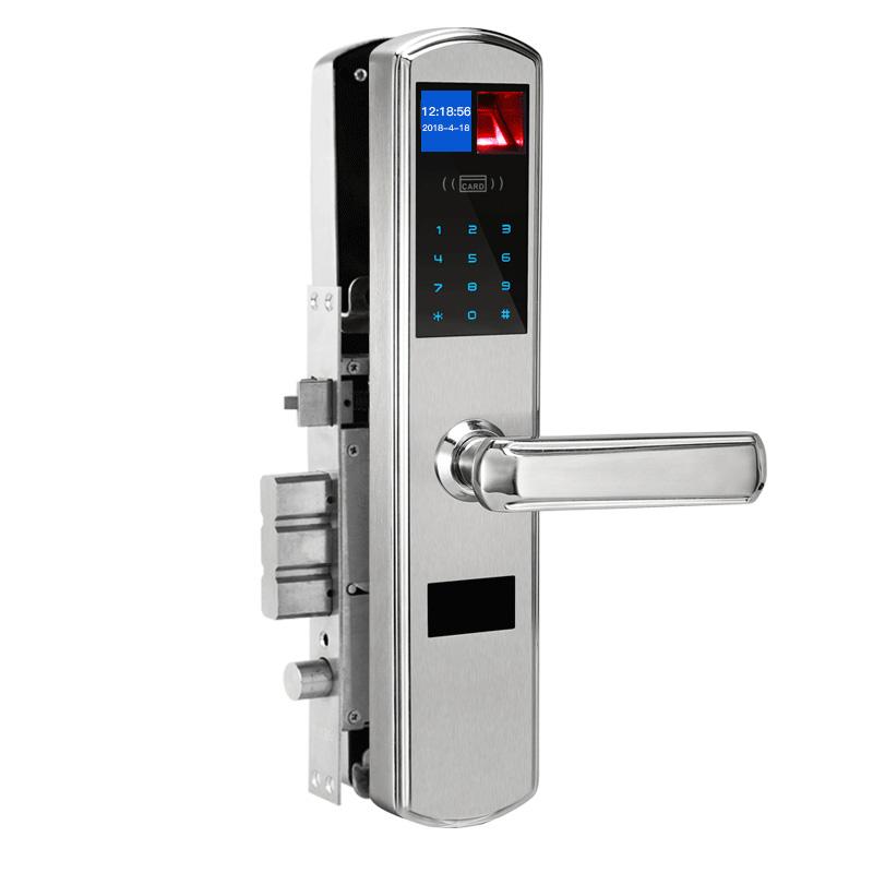 5种开锁模式 C级顶级锁芯!鑫众美 光学指纹锁