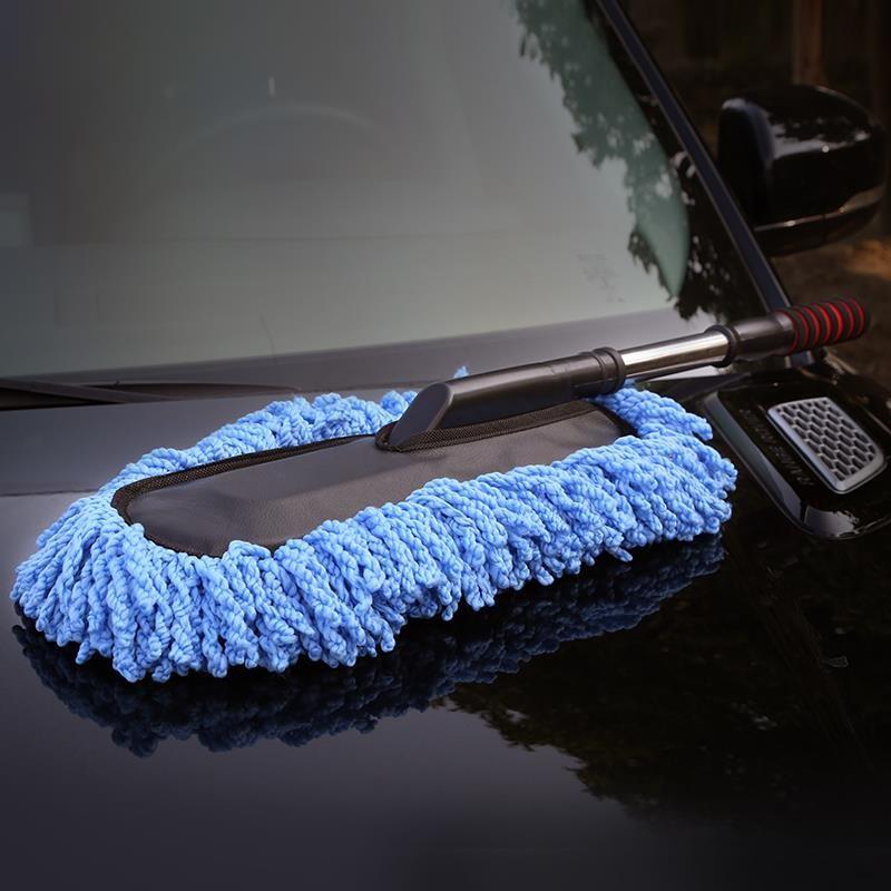 洗车拖把擦车神器专用刷车工具刷除尘掸子扫灰不伤车非纯棉汽车用