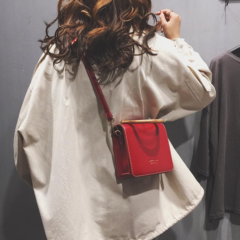 高级感包包女包新款ins潮洋气百搭手提小方包单肩斜挎包