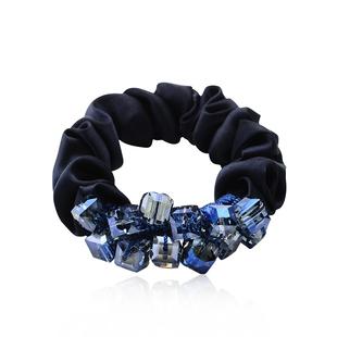 水钻布发圈水晶头绳成人皮筋优雅