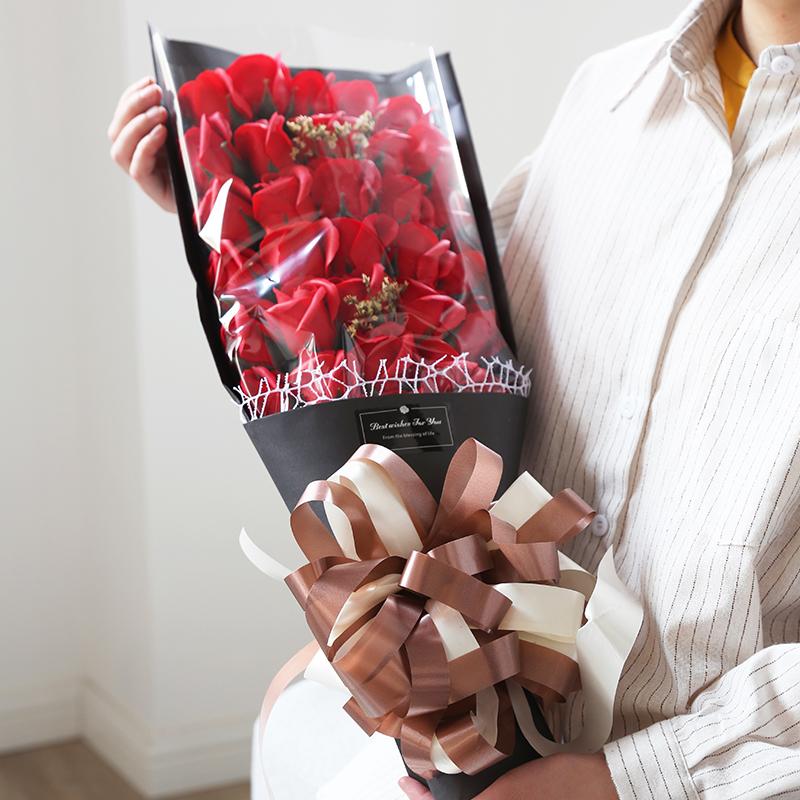 送老婆生日礼物女朋友浪漫玫瑰香皂花花束礼盒求婚布置创意用品