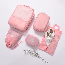 【今日特价网】旅行收纳袋5件套装轻便20寸行李箱装衣服的袋子打包整理袋女旅游