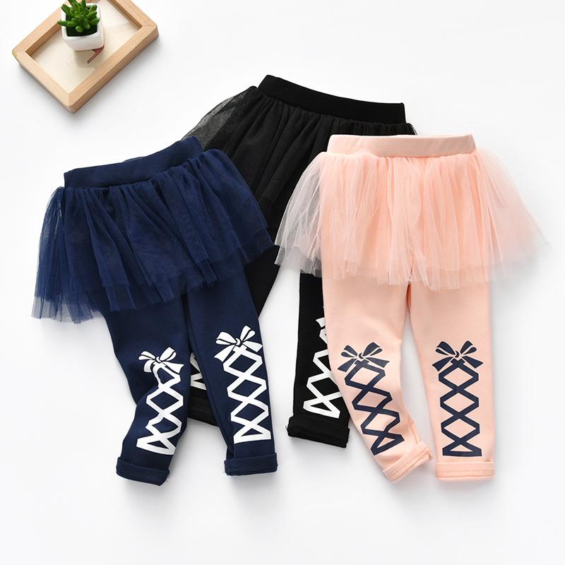 Quần áo trẻ em mùa xuân trẻ em mới của Hàn Quốc phiên bản của lưới quần váy 2018 mùa xuân hoang dã in nữ kho báu công chúa