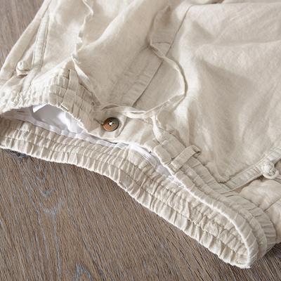Gió của trung quốc khóa mùa hè linen chín quần người đàn ông lỏng thẳng thường cotton linen retro hậu cung quần phần mỏng Quần Harem