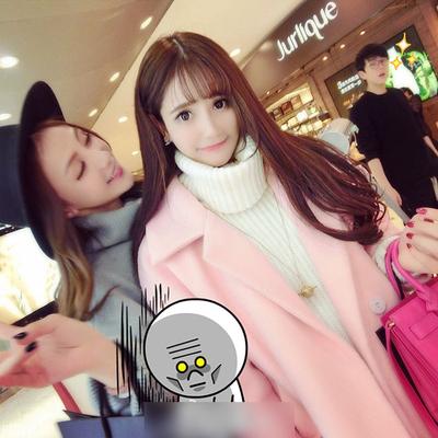 Mùa đông mới Hàn Quốc phần dài áo len Hàn Quốc phiên bản của màu hồng lỏng 过 loại trên đầu gối áo len nữ dày Áo Hàn Quốc