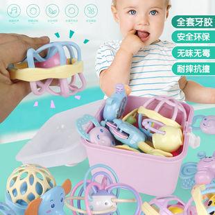 婴儿玩具0-1岁宝宝益智早教幼儿手摇铃牙