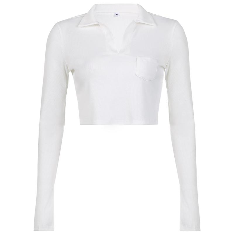 WEEKEEP纯色小清新短款polo衫