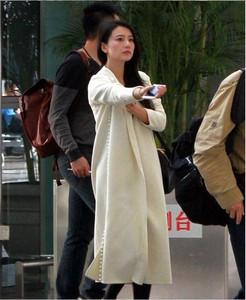 秋冬款范冰冰明星同款加厚白色过膝长款毛呢外套双面羊绒大衣女潮