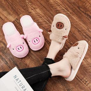 冬季棉拖鞋儿童可爱厚底保暖毛拖鞋女家居毛
