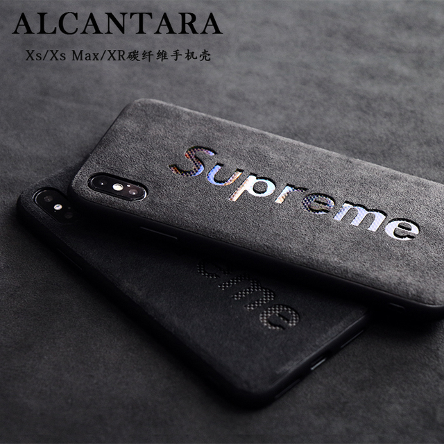 buy online caecb e1cea 0 Carbon Fiber Supreme Alcantara Canvas Microfiber Hydrophobic Water  Repellent Surface Phone Cases Covers iPhone XR, iPhone X / iPhone XS,  iPhone XS ...