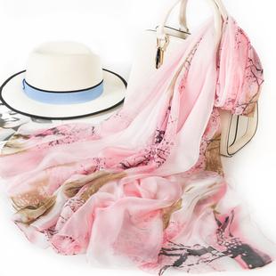 上海故事春秋季丝巾长款纱巾冬季雪纺围巾