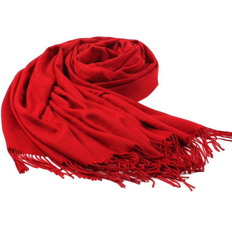 上海故事厚款围巾女冬季长条百搭大红色女中国红定制韩版披肩年会-给呗网