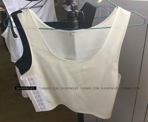 T thời đại 2018 mùa hè mới coslest corset ngắn siêu mỏng voan siêu phẳng hiệu ứng ngực không có dấu vết thoáng khí