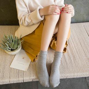 3双 秋冬纯棉堆堆袜女学院风日系长袜
