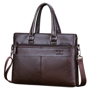 男士手提包大包横款商务男包单肩公文包皮包