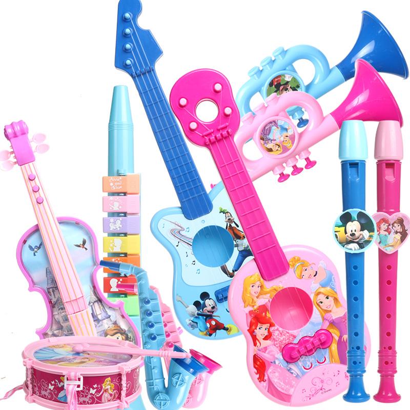 迪士尼儿童乐器玩具音乐组合哨子口琴笛子喇叭萨克斯生日礼物