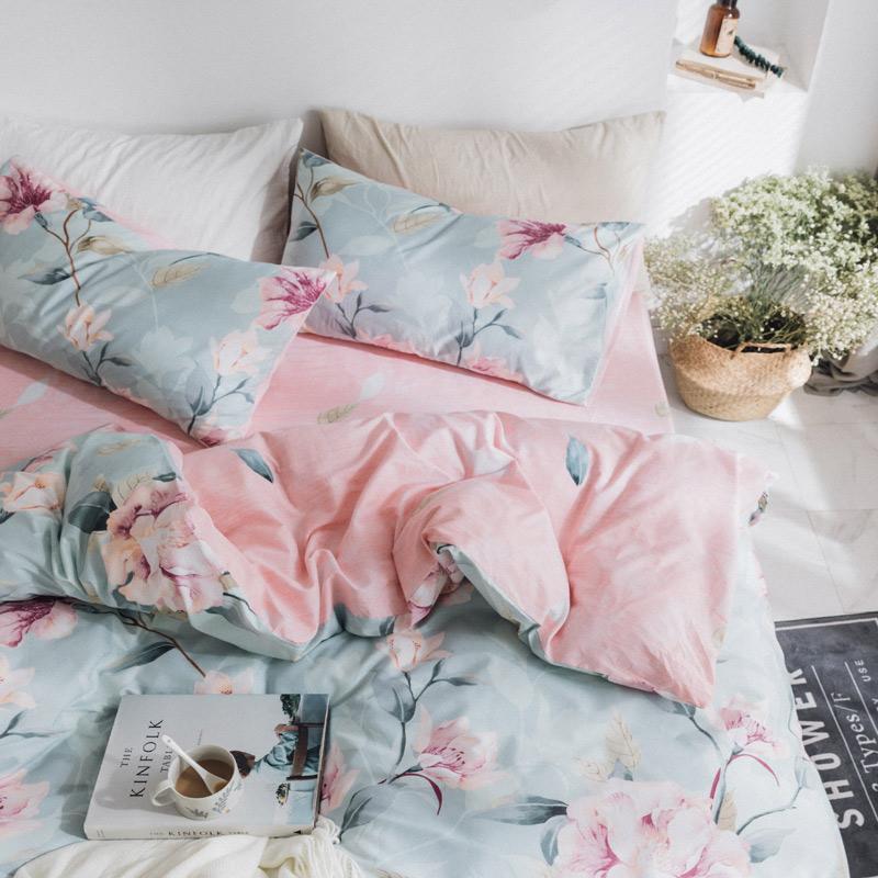 馨莎全棉四件套床上用品卡通风三件套1.5m被套床单1.8米纯棉4件套