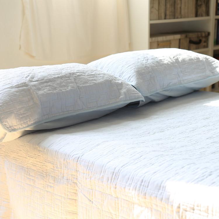 白色床盖三件套 欧式白色纯棉水洗绗缝被 夏凉被双人空调被送枕套