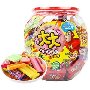 包邮箭牌口香糖大大泡泡糖什锦味675g桶约150片儿童怀旧休闲零食