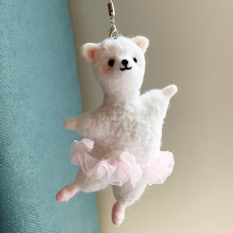 羊毛毡戳戳乐手工制作DIY礼物打发时间芭蕾舞熊羊驼材料包情侣
