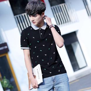 夏季棉短袖T恤花色宽松体恤商务男装半袖