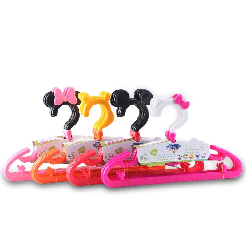宝宝乐儿童衣架家用塑料卡通宝宝防滑衣撑新生婴儿晾衣挂包邮