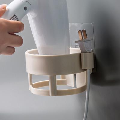 创意无痕免打孔吹风机架浴室卫生间家用电吹风收纳架壁挂式置物架