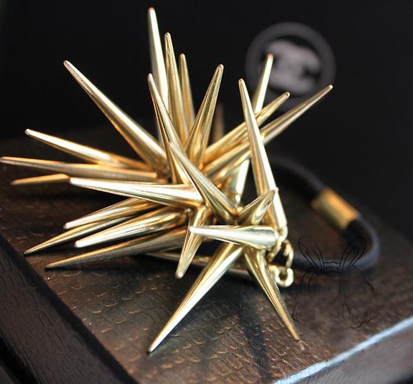 韩式头绳朋克尖刺铆钉发圈发饰简约发绳橡皮筋发圈头饰头绳 IX型