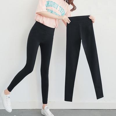 显瘦黑色打底裤薄款小脚魔术裤