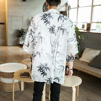 Trung Quốc tang phù hợp với hanfu Trung Quốc phong cách quần áo của nam giới áo choàng áo khoác trang phục dịch vụ trà kem chống nắng áo gió mùa hè áo choàng áo choàng Áo gió
