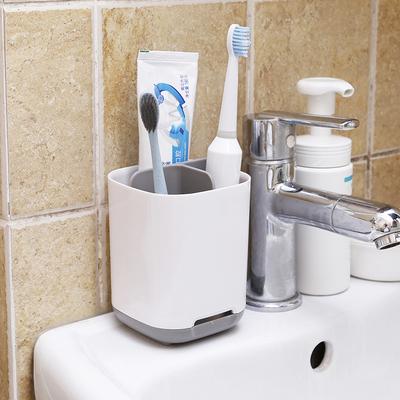 家用卫生间牙刷牙膏架置物架电动牙刷收纳盒套装情侣免打孔牙具座