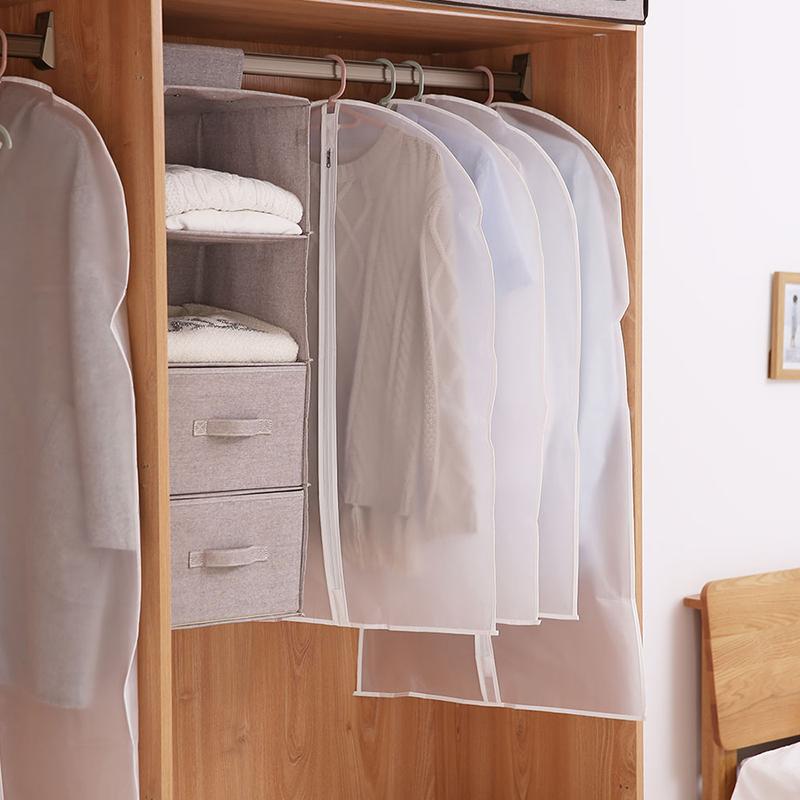 家用挂式衣物防尘袋衣罩挂衣袋衣服袋子无纺布透明收纳袋大衣挂袋