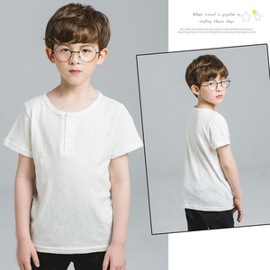 实拍童装男童短袖T恤 儿童纯色体恤纯棉中大童韩版潮夏装2017新款
