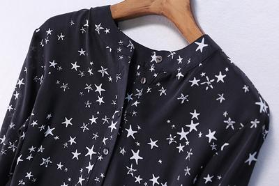 LT03991 ~ 特特 的 星空 ~ kiểu dáng đẹp và sáng bóng Silk double 绉 trong áo dài ~