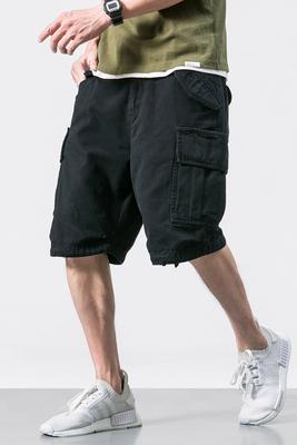 Đa túi thủy triều thương hiệu đen dụng cụ quần short yu wenle nam năm điểm quần âu 5 điểm quần mùa hè quần lỏng thủy triều Quần làm việc