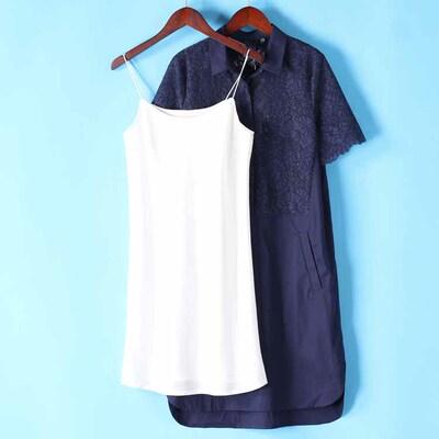 淼 S loạt cao cấp giảm giá mùa hè sản phẩm mới trí tuệ vẻ đẹp ~ sling + loose ren dress 826 Sản phẩm HOT